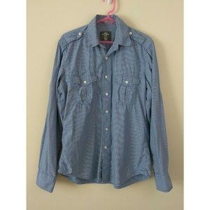 H&M L.O.G.G size M fitted casual button-down shirt